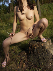 Young nude babe pissing with a cig in her hand - XXXonXXX - Pic 15