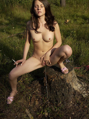 Young nude babe pissing with a cig in her hand - XXXonXXX - Pic 16