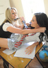 Two nasty college girls in tight underwear and stockings Candice Collyer