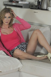 Horny teacher Miss Sam feeling uncomfy in her new bra and panties. She.. - picture 3