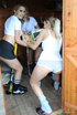 Two skiving college girls Amy Green and Cat…