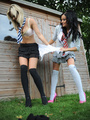 Blonde cutie Amy Green in sexy black socks gets sripped by Kayleigh Wi.. - picture 6
