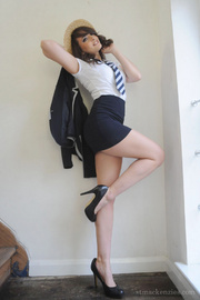 Newcomer student Amy Wilson slowly taking off her school uniform and s.. - picture 3