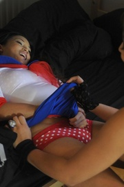 Nasty Kayla Klass and Ayumi Natsume get naked in their dorm. They kiss.. - picture 3