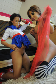 Nasty Kayla Klass and Ayumi Natsume get naked in their dorm. They kiss.. - picture 4