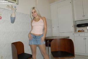 Awesome blonde Kristine met the stranger - XXX Dessert - Picture 1