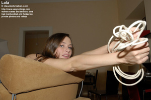 Lovely girl Lucky tied to the chair and  - XXX Dessert - Picture 12