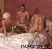 Three Amateur Swinger Couples Group Fuck