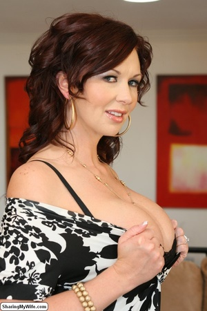 Busty Brunette Wife Strips & Fucks New M - XXX Dessert - Picture 10