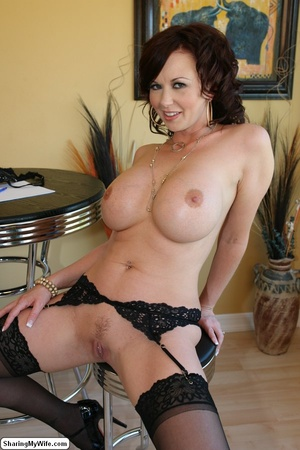 Busty Brunette Wife Strips & Cheats on H - XXX Dessert - Picture 15