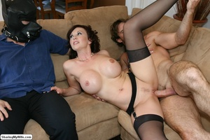 Busty Brunette Wife Strips & Cheats on H - XXX Dessert - Picture 20