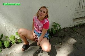 Nasty teen slut takes a piss in the backstreet - XXXonXXX - Pic 11