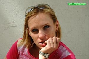 Nasty teen slut takes a piss in the backstreet - XXXonXXX - Pic 15