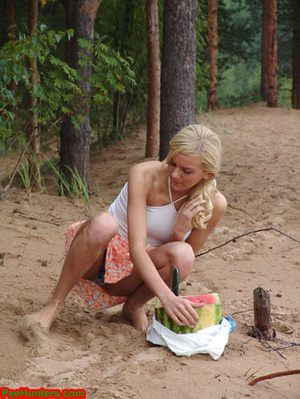 Blonde teen pissing in the beach - XXXonXXX - Pic 4