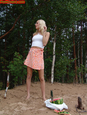 Blonde teen pissing in the beach - XXXonXXX - Pic 8
