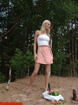 Blonde teen pissing in the beach - XXXonXXX - Pic 9