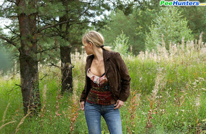Seductive young girlie drains her bladder outdoors - XXXonXXX - Pic 14