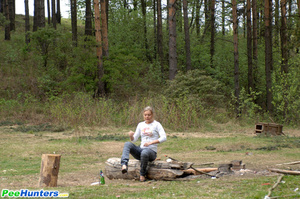 Girl goes to the woods to piss and smoke a cig - XXXonXXX - Pic 5