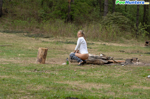 Girl goes to the woods to piss and smoke a cig - XXXonXXX - Pic 7