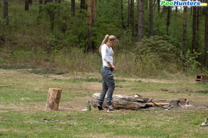 Girl goes to the woods to piss and smoke a cig - XXXonXXX - Pic 11
