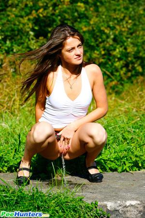 Voyeur busts a gorgeous leggy college girl peeing - XXXonXXX - Pic 8