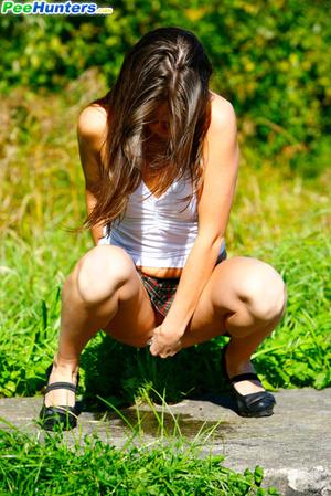 Voyeur busts a gorgeous leggy college girl peeing - XXXonXXX - Pic 10