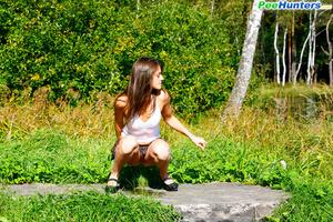 Voyeur busts a gorgeous leggy college girl peeing - XXXonXXX - Pic 11