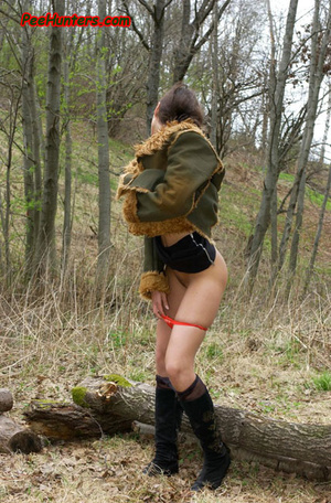 Horny teen peeing in the park - XXXonXXX - Pic 11