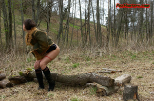 Horny teen peeing in the park - XXXonXXX - Pic 12