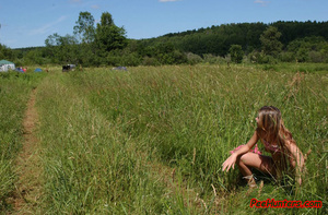 Beautiful teen peeing on the field - XXXonXXX - Pic 12