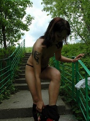 Buck nude teeny pisses down the stone stairway - XXXonXXX - Pic 2