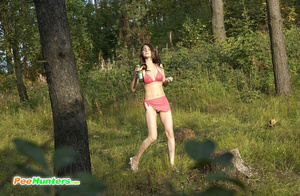 Girl goes to the woods to piss and smoke a cig - XXXonXXX - Pic 1