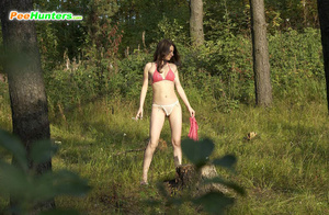 Girl goes to the woods to piss and smoke a cig - XXXonXXX - Pic 2