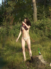 Girl goes to the woods to piss and smoke a cig - XXXonXXX - Pic 3