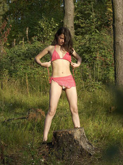 Girl goes to the woods to piss and smoke a cig - XXXonXXX - Pic 15