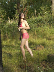 Girl goes to the woods to piss and smoke a cig - XXXonXXX - Pic 16