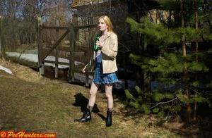 Spying on peeing and sunbathing teen - XXXonXXX - Pic 8