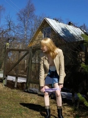 Spying on peeing and sunbathing teen - XXXonXXX - Pic 14