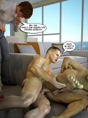 Young handsome 3d gay stud seduced by muscular sex - Picture 7