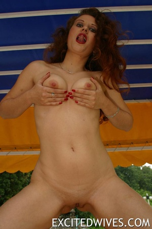 Sex starving redhead mature milf exposing her naked body poolside. Tags: Boobs, naked girl, homemade, shaved vagina. - XXXonXXX - Pic 8