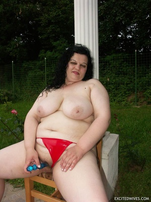 Busty mature plumper sticking blue dildo deep inside her pussy. Tags: Hairy vagina, tight panties, insertion, granny. - XXXonXXX - Pic 3