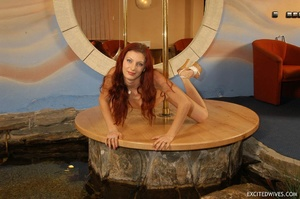 Awesome mature redhead babe in black panties performing pole dance. Tags: Redhead, small tits, homemade. - XXXonXXX - Pic 5