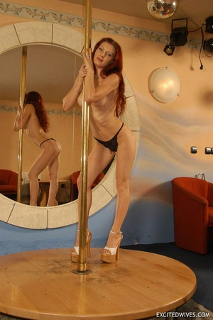 Xxx homemade pics of mature wife seductively dancing on the pole. Tags: Homemade, tight panties, high heels, sexy ass. - XXXonXXX - Pic 1