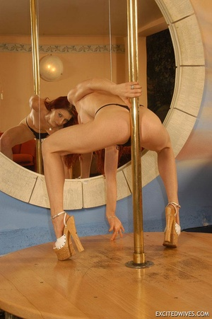 Xxx homemade pics of mature wife seductively dancing on the pole. Tags: Homemade, tight panties, high heels, sexy ass. - XXXonXXX - Pic 7