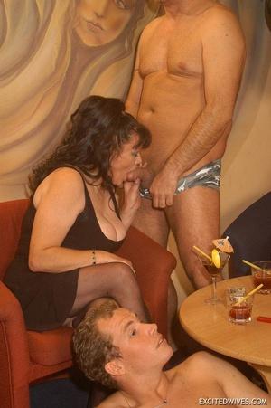 Nasty grannies get cum covered after rough gangbang fucking. Tags: Orgy sex, fat mature, cock sucking, homemade. - XXXonXXX - Pic 2