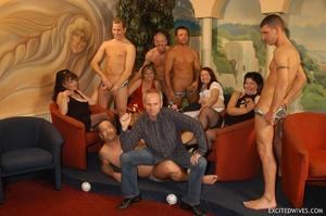 Nasty grannies get cum covered after rough gangbang fucking. Tags: Orgy sex, fat mature, cock sucking, homemade. - XXXonXXX - Pic 3