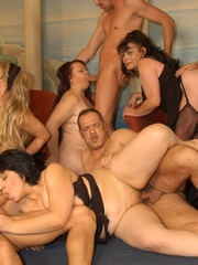 Nasty grannies get cum covered after rough - XXXonXXX - Pic 4