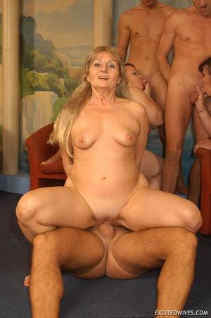 Nasty grannies get cum covered after rough gangbang fucking. Tags: Orgy sex, fat mature, cock sucking, homemade. - XXXonXXX - Pic 5