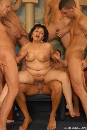 Nasty grannies get cum covered after rough gangbang fucking. Tags: Orgy sex, fat mature, cock sucking, homemade. - XXXonXXX - Pic 6