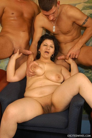 Nasty grannies get cum covered after rough gangbang fucking. Tags: Orgy sex, fat mature, cock sucking, homemade. - XXXonXXX - Pic 8